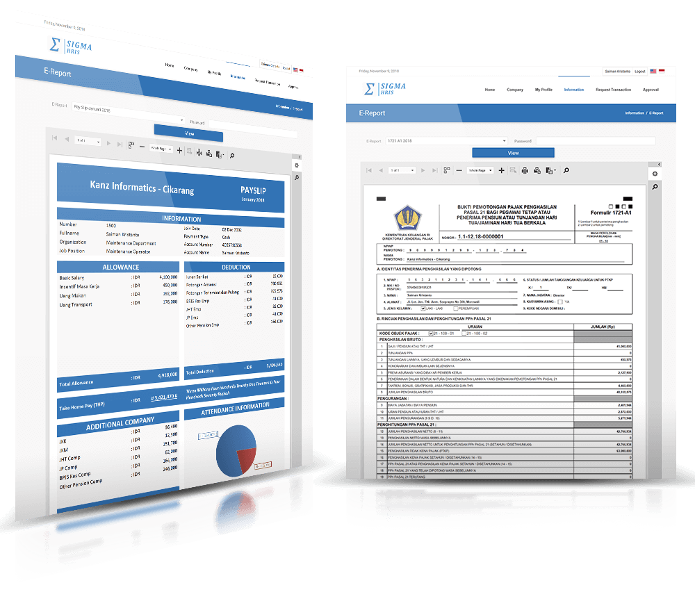 HR Software Indonesia - Sigma HRIS Employee Self Service